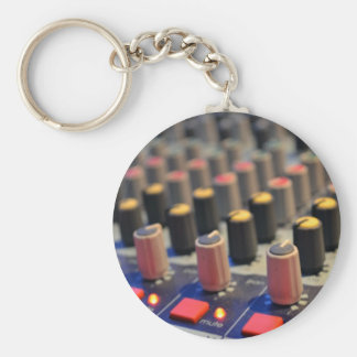 Mixing Board Buttons Basic Round Button Key Ring