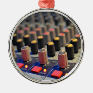 Mixing Board Buttons Christmas Ornament
