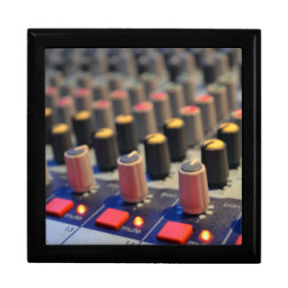 Mixing Board Buttons Large Square Gift Box