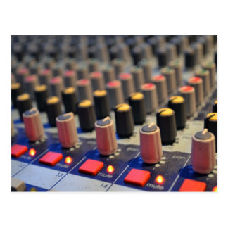 Mixing Board Buttons Postcard