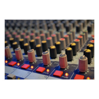 Mixing Board Buttons Poster