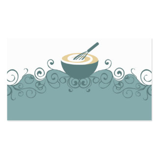 mixing bowl whisk baker pastry chef business card