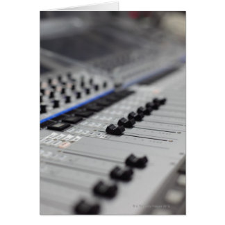 Mixing Desk Greeting Card