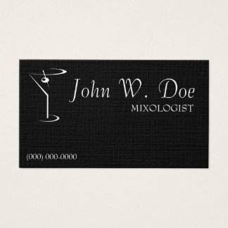 Mixology Bartender Business Cards