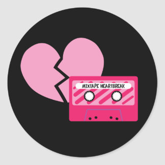 MixTape Heartbreak Classic Round Sticker