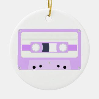 Mixtape - Pastel Purple Round Ceramic Decoration