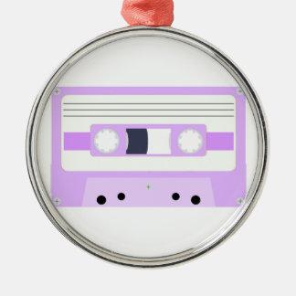 Mixtape - Pastel Purple Silver-Colored Round Decoration