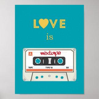 Mixtape Retro Poster