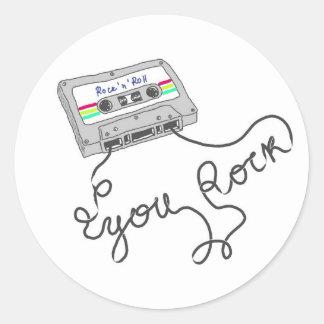 Mixtape - You rock Classic Round Sticker