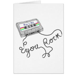 Mixtape - You rock Greeting Card