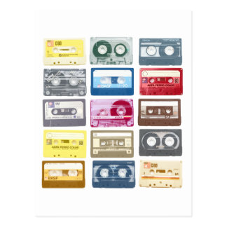 Mixtapes Graphic Postcard
