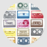Mixtapes Graphic Round Sticker