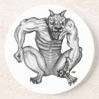 Mixture nature - Troll devil and GOLEM Sandstone Coaster
