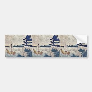 Miya  by Katsushika, Hokusai Ukiyoe Bumper Sticker