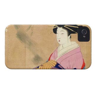 Miyagawa Shuntei Oiran japanese ukiyo-e art iPhone 4 Case-Mate Cases