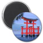 Miyajima Torii Gate Japan 6 Cm Round Magnet