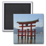 miyajima torii square magnet