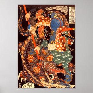 Miyamoto Musashi Kuniyoshi Japanese Fine Art Poster