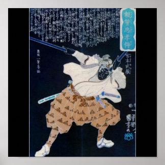 Miyamoto Musashi Painting circa 1800 s Print