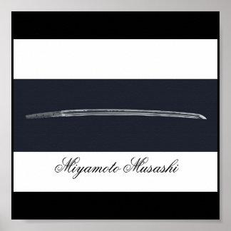 Miyamoto Musashi's Sword Poster