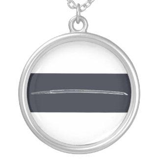 Miyamoto Musashi's Sword Silver Plated Necklace