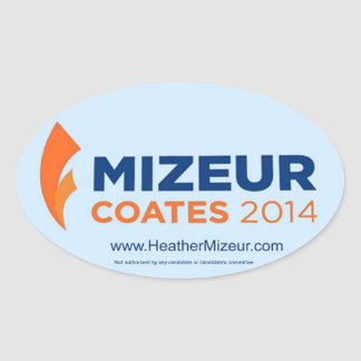 Mizeur Coates 2014 Oval Sticker (Sheet of 4)