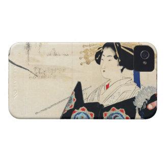 Mizuno Toshikata Courtesan and Maid oriental art iPhone 4 Case
