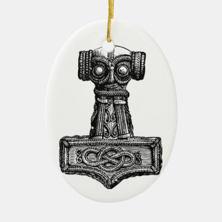 Mjolnir: Thor's Hammer Christmas Ornament