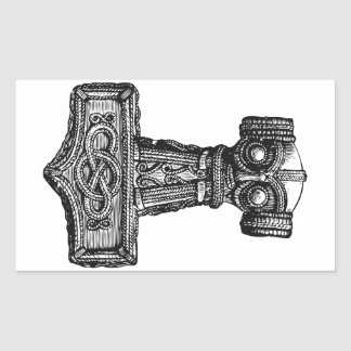 Mjolnir: Thor's Hammer Rectangular Sticker