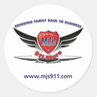 MJ'S 911 Store's Logo Round Sticker