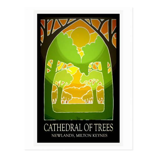 MK' Cathedral of Trees vintage postcard