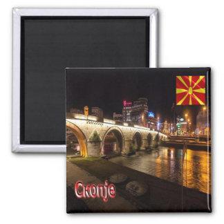 MK - Macedonia-Skopie-Bridge over the river Vardar Magnet