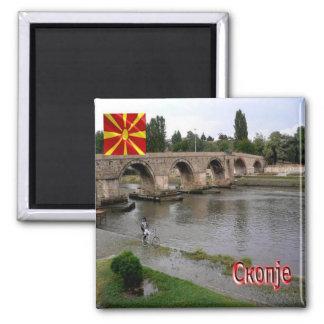 MK - Macedonia - Skopje Square Magnet
