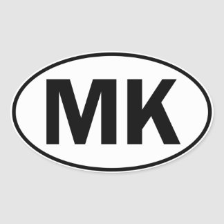 MK Oval Identity Sign Oval Sticker