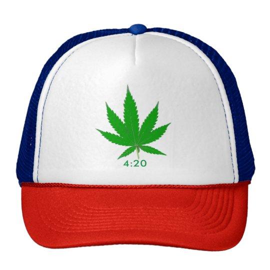 MKFMJ Marijuana Leaf' 4:20 Cap