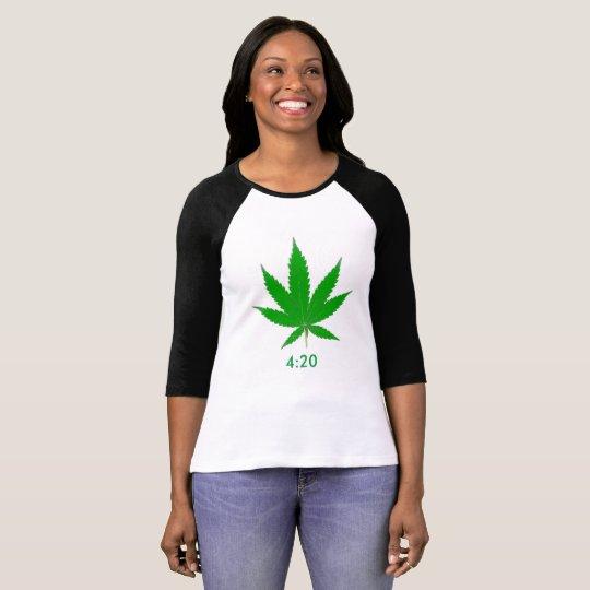 MKFMJ Marijuana Leaf' 4:20 T-Shirt