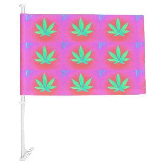 MKFMJ Marijuana Leaf Car Flag