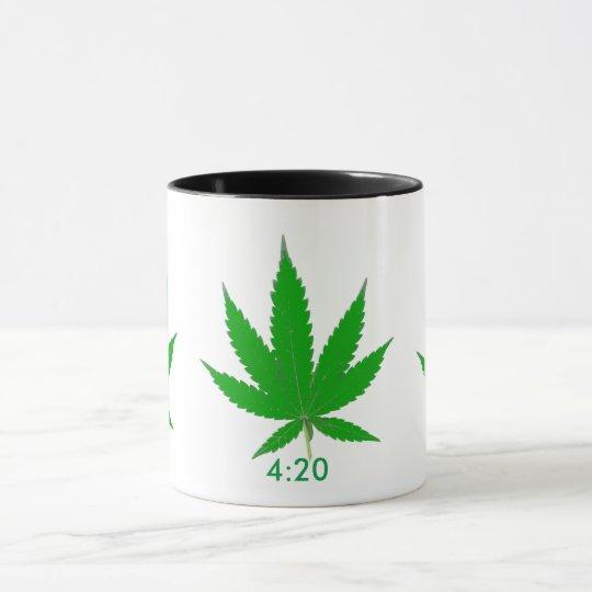 MKFMJ Marijuana Leaf' Mug