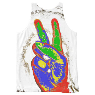 MKFMJ Peace Sing All-Over Print Tank Top