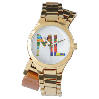 ML colourful initials  watch