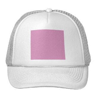 MLE GIRLY ICE-CREAM PINK DECORATIVE  EMBOSSED PATT TRUCKER HAT