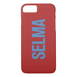MLK Day-Selma Blue on Red iPhone 7 Case