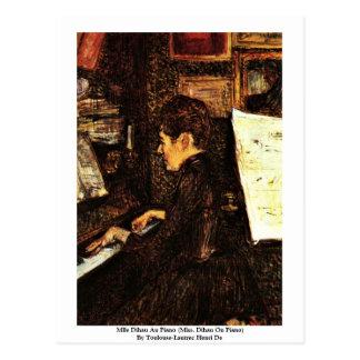 Mlle Dihau Au Piano Post Card