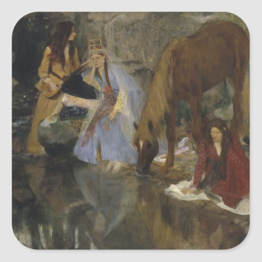 Mlle Fiocre in Ballet La Source by Edgar Degas Stickers