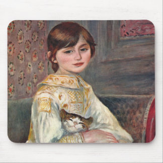 Mlle. Julie Manet with Cat Mouse Pad