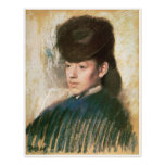 Mlle, Malo, Portrait of a Woman, Edgar Degas Poster