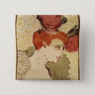Mlle. Marcelle Lender, 1895 15 Cm Square Badge