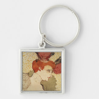 Mlle. Marcelle Lender, 1895 Silver-Colored Square Key Ring