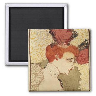 Mlle. Marcelle Lender, 1895 Square Magnet