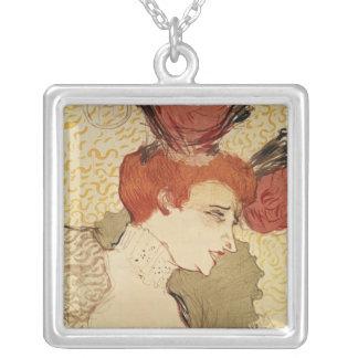 Mlle. Marcelle Lender, 1895 Square Pendant Necklace